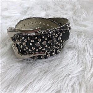 [Guess] Black Embellished Jewel Belt Small